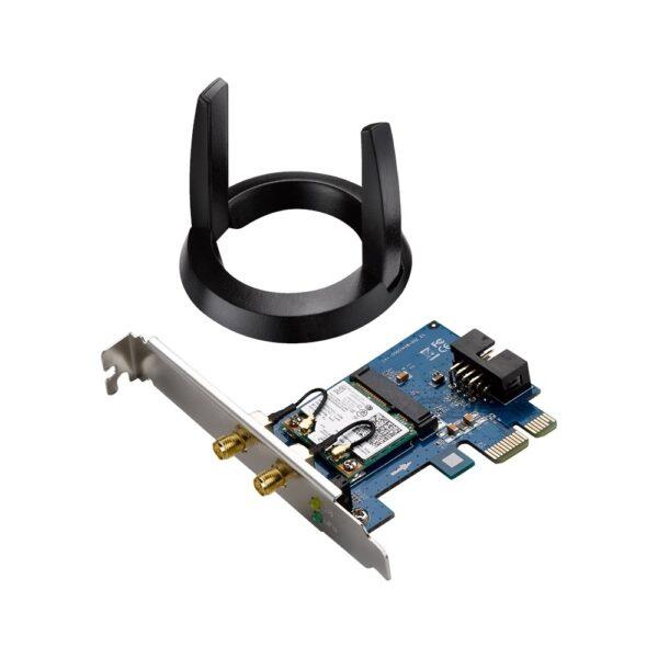 "PLACA RETEA ASUS AC1200, intern wireless 2.4 GHz   5 GHz, PCI-E, port, 867 Mbps, antena externa x 1, ""PCE-AC55BT"""