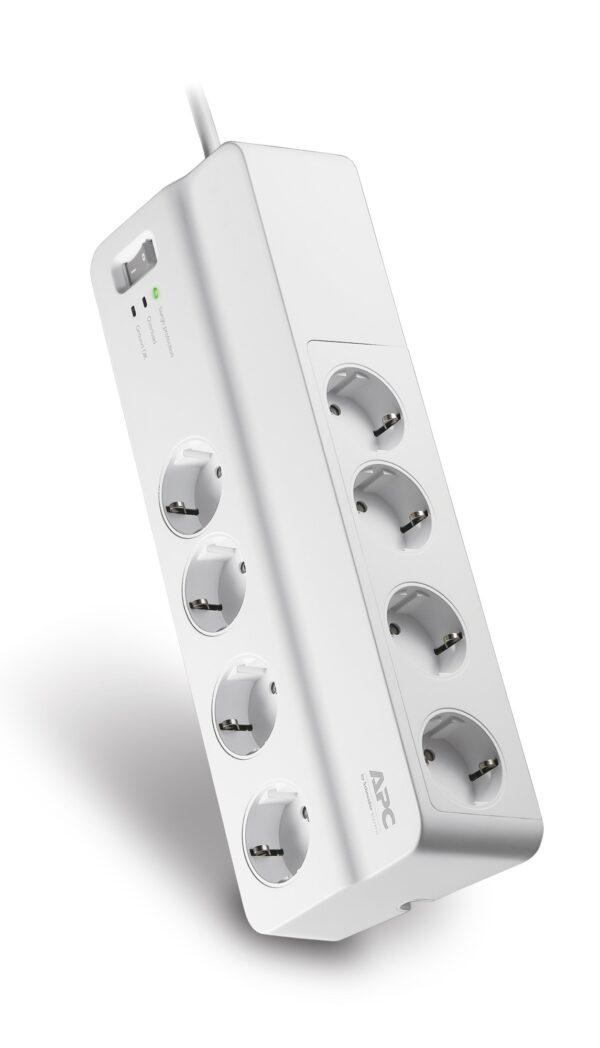 """PRELUNGITOR APC, Schuko x 8, conectare prin Schuko (T), cablu 2 m, 10 A, protectie supratensiune, alb, """"PM8-GR"""""""