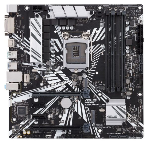 "PLACA de BAZA ASUS PRIME Z390M-PLUS, skt LGA 1151, Intel Z390, mATX, slot RAM 4 x DDR4, max 64 GB, 4x S-ATA 3, 2x M.2, 2x PCI-E, PCI-E3.0x16 x 1, PCI-E3.0x4 x 1, LAN 1000 Mbps, HDMI, DVI, 7.1, ""PRIME Z390M-PLUS"""