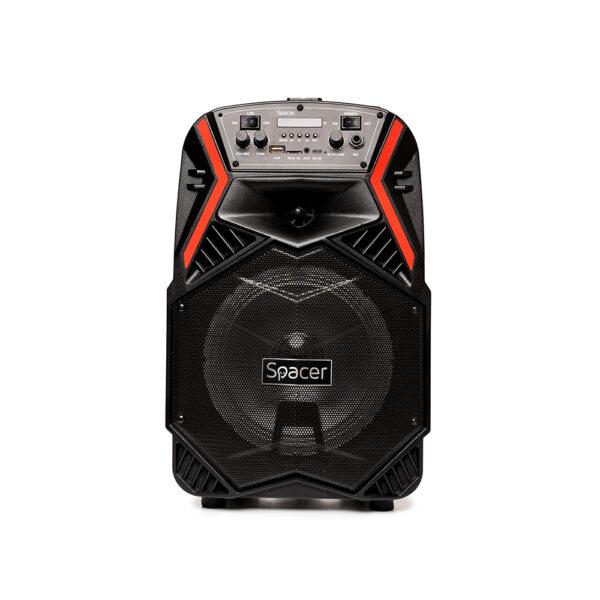 "BOXE SPACER portabile bluetooth COUGAR, tip troler, RMS: 35W, 8″ woofer, acumulator 3.7V1800 mAh, input : AUX audio, guitar, USB/microSD, remote control, black, ""SPB-H8-BT"" 43501597"