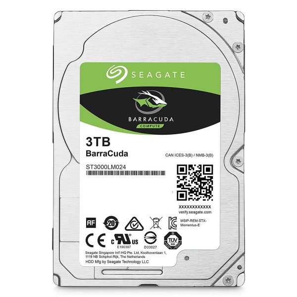"Barracuda, 3TB, SATA 3.0, Buffer 128 MB, 5400 rpm, 2,5″, Thickness 15mm ""ST3000LM024"""