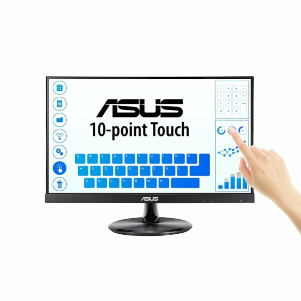 """MONITOR ASUS 21.5″, home or office   touchscreen, IPS, Full HD, 1920 x 1080 60 Hz Wide, 250 cd/mp, 5 ms, VGA   HDMI, boxe, """"VT229H"""""""