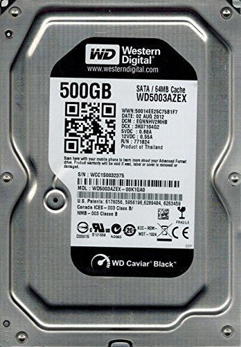 """HDD WD 500 GB, Black, 7.200 rpm, buffer 64 MB, pt. desktop PC, """"WD5003AZEX"""""""