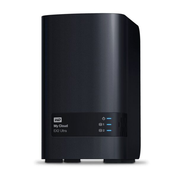 "NAS WD, tower, HDD x 2, capacitate maxima 20 TB, memorie RAM 1 GB, RJ-45 (Gigabit), porturi USB 3.0 x 2, ""WDBVBZ0200JCH-EESN"""