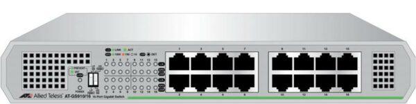 "SWITCH ALLIED TELESIS, GS910/16, porturi Gigabit x 16, unmanaged, carcasa metalica, ""AT-GS910/16-50"""