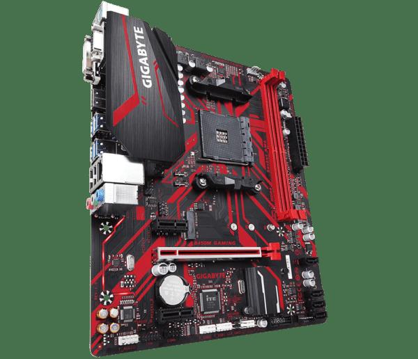 "PLACA de BAZA GIGABYTE B450M GAMING, skt AM4, AMD B450, mATX, slot RAM 2 x DDR4, max 32 GB, 4x S-ATA 3, 1x M.2, 2x PCI-E, PCI-E3.0x16 x 1, LAN 1000 Mbps, HDMI, DVI, VGA, 7.1, ""B450M GAMING"""