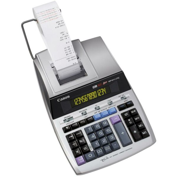 "Calculator birou Canon MP-1411LTSC, 14 digiti, ribbon, display LCD, functie business, tax si conversie moneda ""BE2497B001AA"""