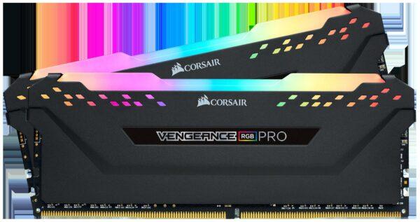 """Memorii CORSAIR gaming DDR4 16 GB, frecventa 3000 MHz, 8 GB x 2 module, radiator, iluminare RGB, """"CMW16GX4M2C3000C15"""""""