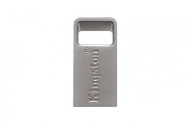 "MEMORIE USB 3.1 KINGSTON 128 GB, profil mic, carcasa metalic, argintiu, ""DTMC3/128GB"""