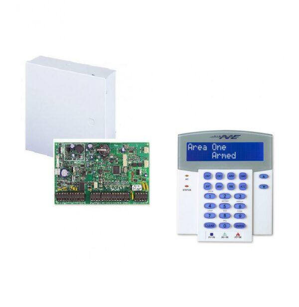 """CENTRALA alarma PARADOX, panou control EVO 192, 8 intrari de zona pe placa (16 cu ATZ), extensibila la 192 zone via BUS cu 4 fire; PGM: 250 (5 iesiri PGM pe placa), declansare +/-; 254 module extensie, 999 coduri utilizator, """"EVO192+K641+CUTIE"""""""