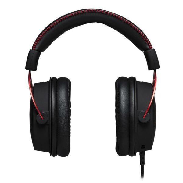 """CASTI KINGSTON cu fir, tip gaming, utilizare multimedia (PC and more), microfon pe brat, detasabil, negru / rosu, """"HX-HSCA-RD/EM"""""""