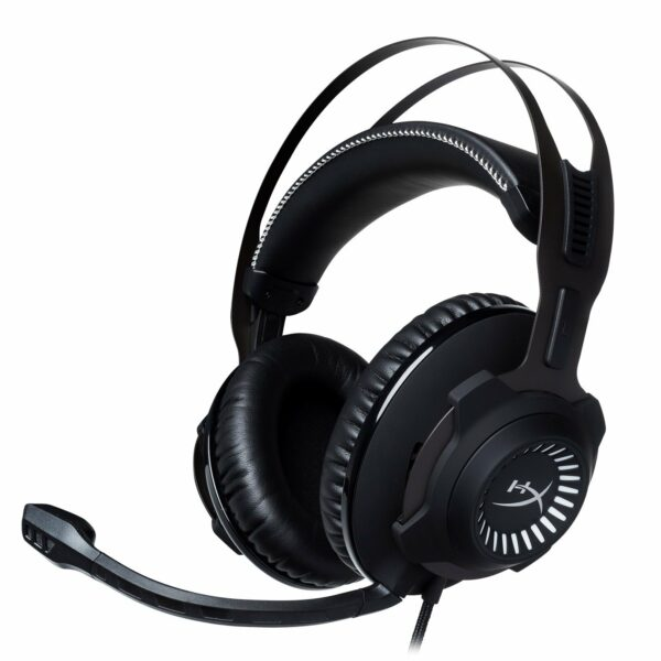 "CASTI Kingston, ""HyperX Cloud Revolver"", cu fir, gaming, utilizare multimedia, smartphone, microfon pe brat, detasabil, conectare prin Jack 3.5 mm, USB 2.0, negru, ""HX-HSCR-GM"", (include TV 0.75 lei)"