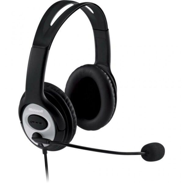 "CASTI Microsoft, ""LifeChat LX-3000"", cu fir, standard, utilizare multimedia, call center, microfon pe brat, conectare prin USB 2.0, negru, ""JUG-00014"", (include TV 0.75 lei)"