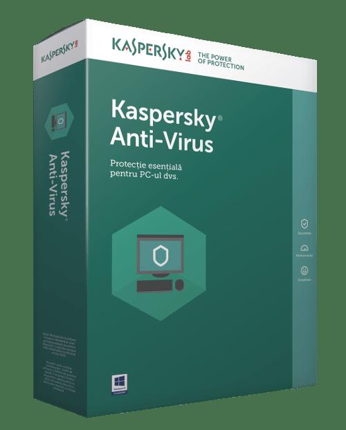 """Licenta electronica Kaspersky Anti-Virus – protectie premiata, eficienta si securitate usor de gestionat, valabila pentru 1 an, 3 echipamente, renew """"KL1171XCCFR"""""""