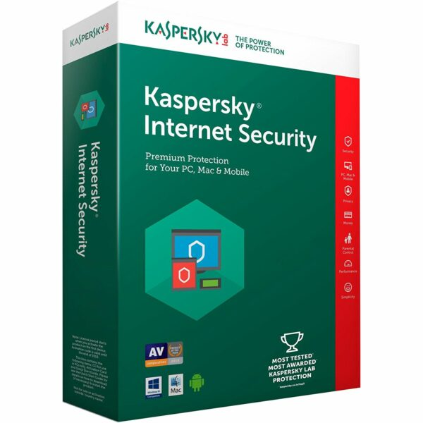 "LICENTA electronica KASPERSKY, tip Internet Security, pt PC | Mac | Smartphone | Tableta, 1 utilizator, valabilitate 2 ani, Windows | macOS | iOS | Android, ""KL1939XCADS"" (nu se returneaza)"