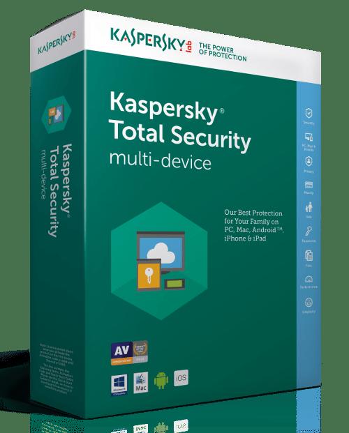 "LICENTA electronica   reinnoire KASPERSKY, tip Total Security, pt PC   Mac   Smartphone   Tableta, 1 utilizator, valabilitate 1 an, Windows   macOS   iOS   Android, ""KL1949XCAFR"" (nu se returneaza)"