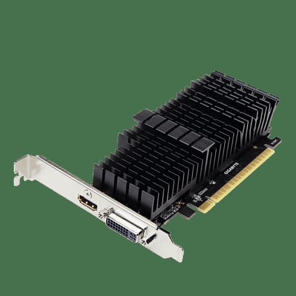 "PLACA VIDEO GIGABYTE NVIDIA GeForce GT 710, 2 GB GDDR5 64 biti, PCI Express 2.0 x 8, HDMI, DVI, sistem racire aer pasiv, ""N710D5SL-2GL"""
