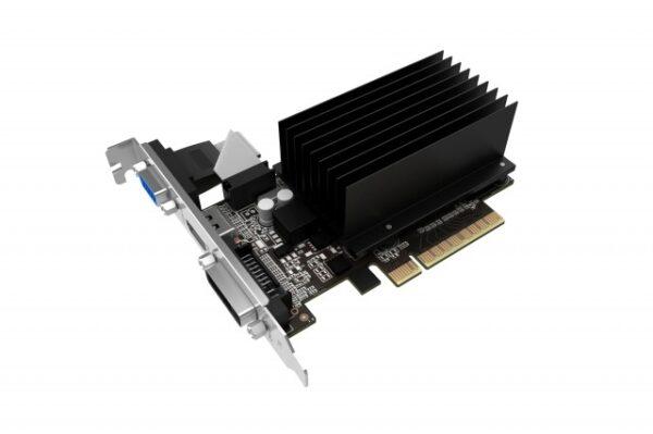 "PLACA VIDEO GAINWARD NVIDIA GeForce GT 710 GB SilentFX, 2 GB GDDR3 64 biti, PCI Express 2.0 x 16, HDMI, DVI, VGA, sistem racire aer pasiv, ""426018336-3576"""