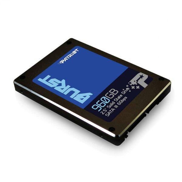 "SSD PATRIOT, BURST, 960 GB, 2.5 inch, S-ATA 3, 3D TLC Nand, R/W: 560/540 MB/s, ""PBU960GS25SSDR"""