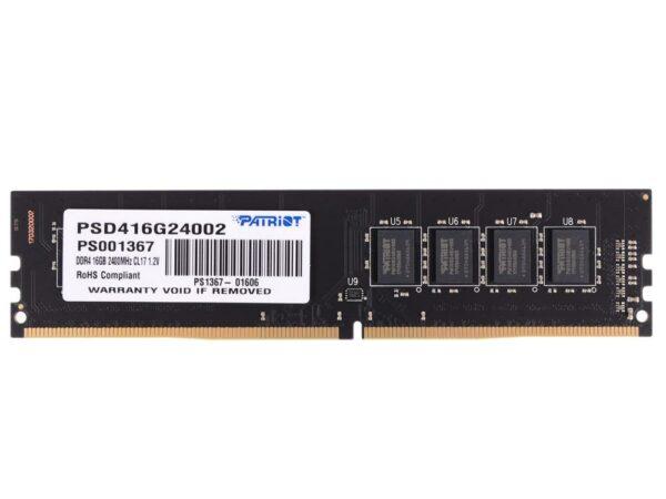 "Memorii PATRIOT DDR4 16 GB, frecventa 2400 Mhz, 1 modul, ""PSD416G24002"""