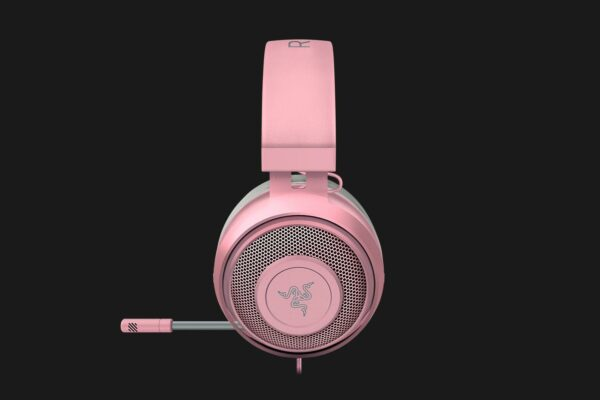 "CASTI Razer, ""Kraken"", cu fir, gaming, utilizare multimedia, smartphone, microfon pe brat, conectare prin Jack 3.5 mm, Jack 3.5 mm x 2, roz, ""RZ04-02830300-R3M1"", (include TV 0.75 lei)"