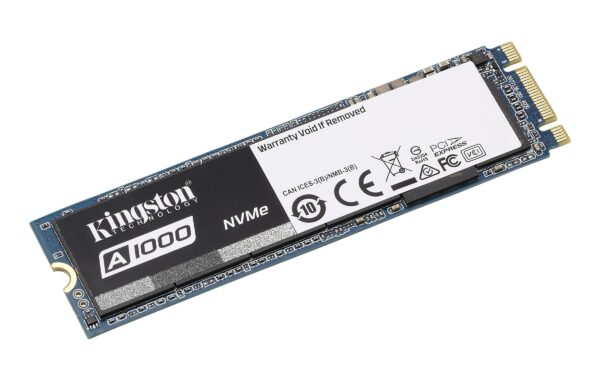 """SSD KINGSTON, A1000, 960 GB, M.2, PCIe Gen3.0 x2, 3D Nand, R/W: 1500/1000 MB/s, """"SA1000M8/960G"""""""