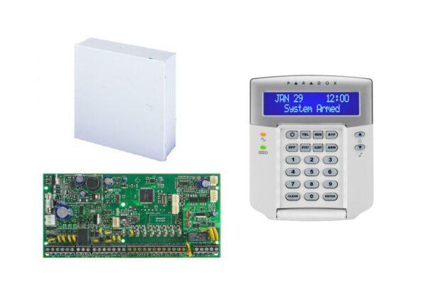 """CENTRALA alarma PARADOX, panou control SP6000; 8 intrari de zona sau 16 cu ATZ, extensibila la 32 zone; extensibila la 16 iesiri PGM #> (2 pe placa); trigger PGM +/; intrare pentru detectori de fum, pe 2 fire, """"SP6000+CUT+K32LCD"""""""