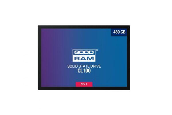 """SSD GOODRAM, CL100, 480 GB, 2.5 inch, S-ATA 3, 3D TLC Nand, R/W: 550/450 MB/s, """"SSDPR-CL100-480-G2"""""""