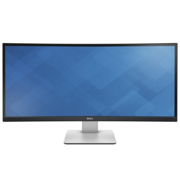 """MONITOR DELL 34″, grafica, IPS, UWQHD (3440 x 1440), Ultra Wide, curbat, 350 cd/mp, 5 ms, HDMI x 2, DisplayPort, mini-DisplayPort, """"U3415W"""" (include TV 5 lei)"""