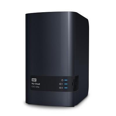 "NAS WD, tower, HDD x 2, capacitate maxima 12 TB, memorie RAM 1 GB, RJ-45 (Gigabit), porturi USB 3.0 x 2, ""WDBVBZ0120JCH-EESN"""