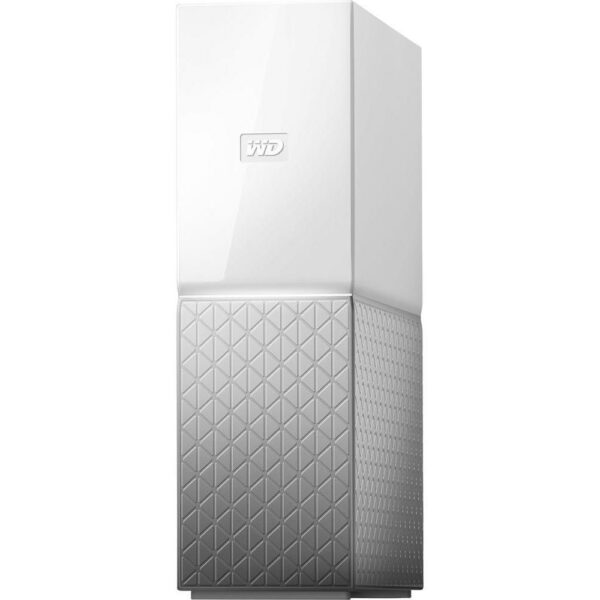 """NAS WD, tower, HDD x 1, capacitate maxima 8 TB, memorie RAM 1 GB, RJ-45 (Gigabit), porturi USB 3.0 x 2, """"WDBVXC0080HWT-EESN"""""""