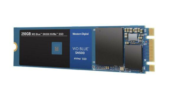"""SSD WD, Blue, 250 GB, M.2, PCIe Gen3.0 x2, 3D Nand, R/W: 1700/1300 MB/s, """"WDS250G1B0C"""""""