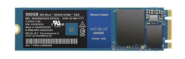 """SSD WD, Blue, 500 GB, M.2, PCIe Gen3.0 x2, 3D Nand, R/W: 1700/1450 MB/s, """"WDS500G1B0C"""""""
