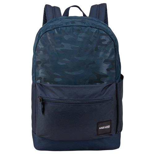 "RUCSAC scolar CASE LOGIC, fara compartiment laptop, 1 compartiment, buzunar frontal, buzunar lateral, waterproof, volum 26 litri, poliester, model camuflaj/ albastru, ""Founder"", ""CCAM-2126 DRESS BLUE/CAMO"" / 3203861"