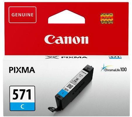 "Cartus cerneala Original Canon Cyan, CLI-571C, pentru Pixma MG5750/MG6850/MG7750, ""BS0386C001AA"""