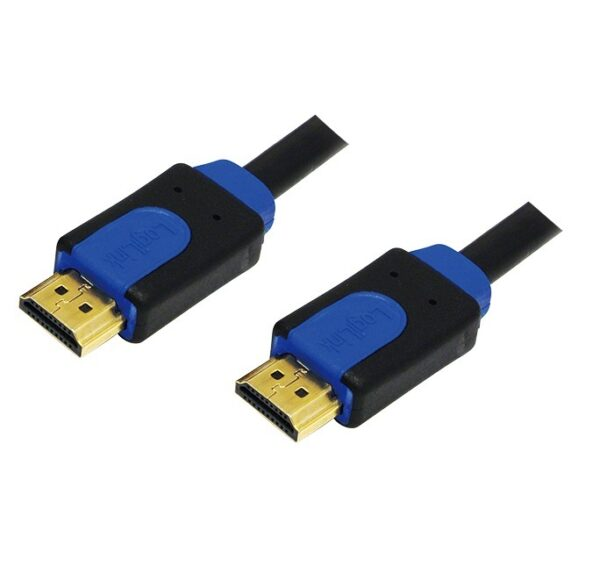 "CABLU HDMI high speed with. ethernet LOGILINK, 2m, (T/T), suporta rezolutii 3D TV si 4K UHD, gold plated, black, ""CHB1102"""