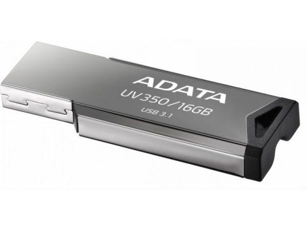"""USB 3.2 Gen 1 ADATA 16GB, carcasa metalica, gaura snur, Silver """"AUV350-16G-RBK"""""""