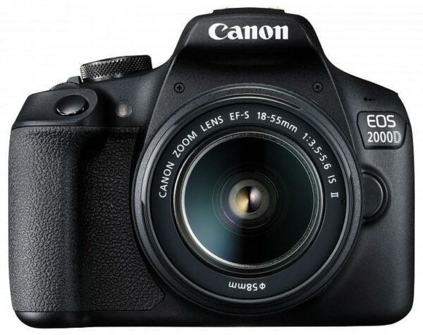 "Camera foto Canon EOS-2000D kit, obiectiv EF-S 18-55mm f/3.5-5.6 IS II 24.1MP,3.0″ TFT fixed DIGIC 4+, ISO 100-6400,FullHD movies 30fps,compatibil SD/SDHC/SDXC, 30-1/4000 sec, HDMI mini,USB,WI-FI, accumulator Li-ion LP-E10 ""2728C028AA"""