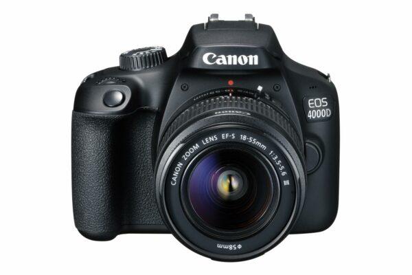 "Camera foto Canon kit EOS-4000D + EF-S 18-55mm DCIII, 18.7MP,2.7″ TFT fixed DIGIC 4+, 3 cadre / sec, ISO 100-6400,FullHD movies 30fps,compatibil SD/SDHC/SDXC,30-1/4000 sec,9 puncte de focus HDMI mini,USB,WI-FI ""3011C018AA"""