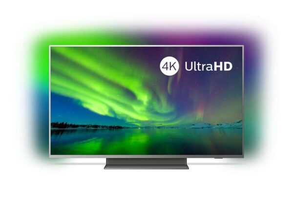 """Televizor LED PHILIPS 50PUS7504/12, 50″- 126 cm, Ambilight 3 laturi, 4KUHD 3840*2160, 16:9, HDR10+, Dolby vision, Android 9.0, memorie 16GB ,HbbTV, autodetectare dispozitive Philips, SimplyShare, """"50PUS7504/12"""""""