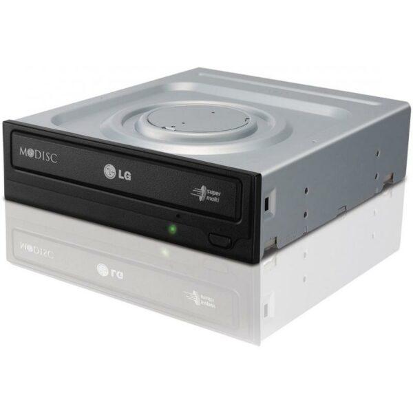 """DVDRW LG 24X SATA BULK BLACK GH24NSD5, Max Speed: DVD 24x DVD+/-R Write 8x DVD+/-R DL Write 5x DVD-RAM Write, CD 48x CD-R Write, Host interface: SATA (Serial ATA), dimensions (WxHxD): 146 mm x 41.3 mm x 165 mm """"GH24NSD5"""""""