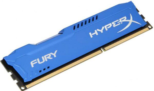"Memorie RAM Kingston, DIMM, DDR3, 4GB, 1333MHz, CL9, HyperX FURY Memory Blue, 1.5V ""HX313C9F/4"""