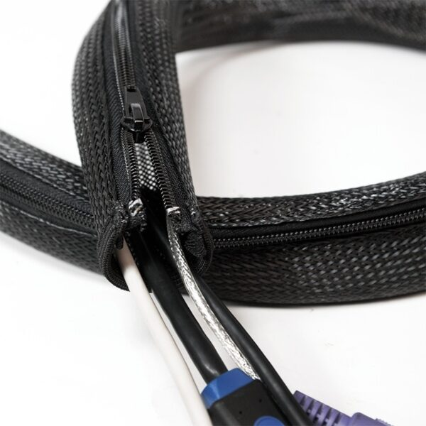 "MANSON protectie cabluri LOGILINK, cu fermoar, 1m, negru, ""KAB0048"""