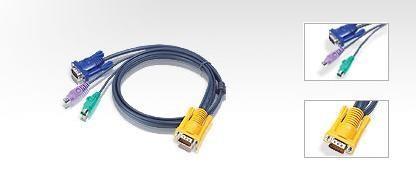 I/O ACC KVM CABLE 3 IN 1 SPHD/1.8M SLIM 2L-5202P ATEN