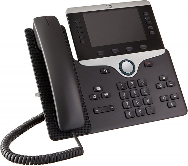 IP Phone Cisco 8800 Series 5 Line with Color Display, Bluetooth and PoE