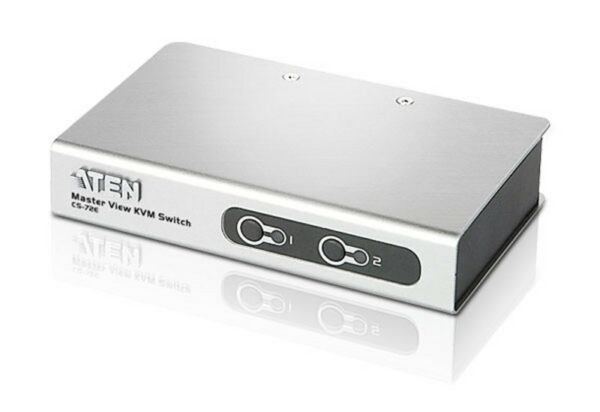 NET SWITCH KVM PS2 2PORT W/CAB/CS72ECZ-AT ATEN