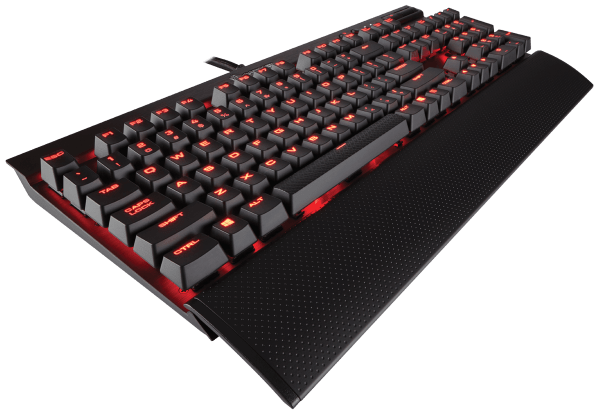 Corsair Gaming K70 LUX Mechanical Keyboard, Backlit Red LED, Cherry MX Red (US)